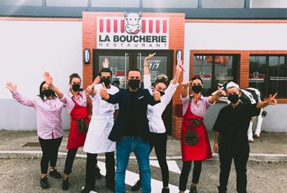 l'équipe du nouveau restaurant La Boucherie à Martigues